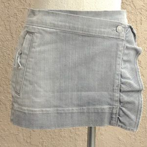 7 FOR ALL MANKIND 27 WRAP AROUND JEAN SKIRT GREY